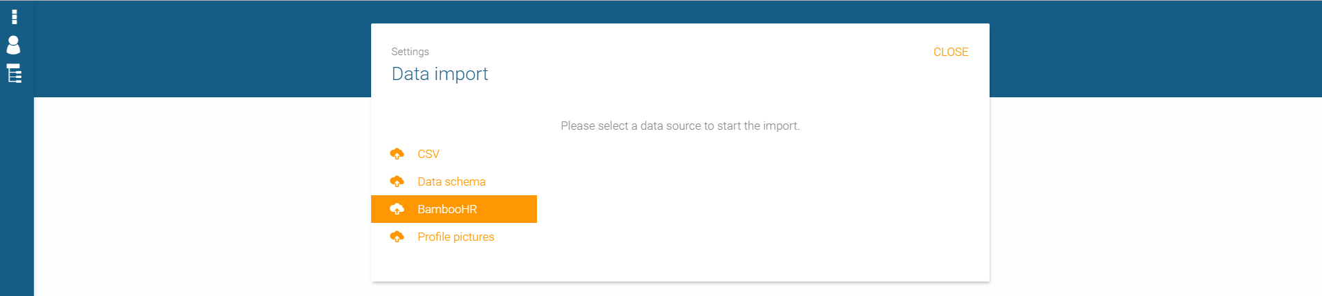 Data import from BambooHR