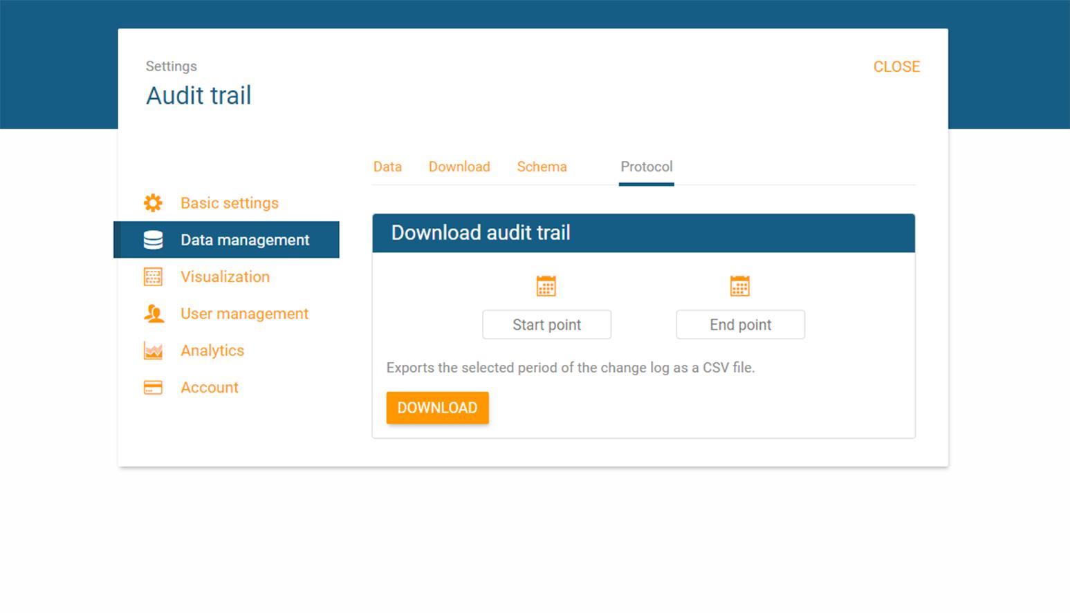 Access audit trail via