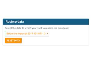 Recover data in orginio